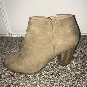 Size 8 tan booties from Old Navy